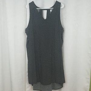 Old Navy Black Floral Shift Dress Size XXL
